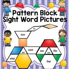 Pattern Block Pictures-Read/Write Sight Words-220 words
