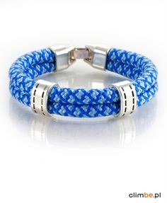 Bracelet dedicated for all mountain lovers - it combines beautiful, different shades of blue. It is unique and original. Very comfortable. Give it to someone you care about.