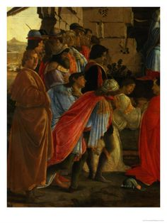 The Adoration of the Magi, Detail of Depicting Self Portrait and Those of the Medici Family Giclee Print by Sandro Botticelli at Art.com