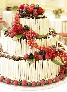 piling fruit on your wedding cake makes it delicious and healthy... right?