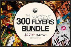 Massive 300 Flyers Bundle by Thats Design Studio on Creative Market