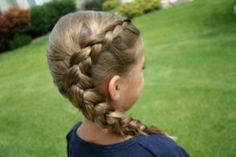 Side braid for kids