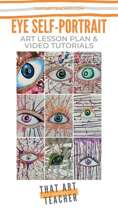 Eye Self-Portrait Lesson Plan - That Art Teacher Learn how to use colored pencils and watercolor to Art Lessons For Kids, Art Lessons Elementary, Art For Kids, Color Art Lessons, Elementary Schools, Middle School Art Projects, Art School, Primary School Art, High School
