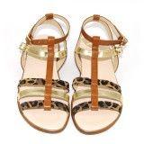 Les Boni Saphari sont de jolies sandales d'été filles avec une fermeture montante pour un bon maintien de la cheville. Leurs motifs léopard rappellent la chaleur de l'été .