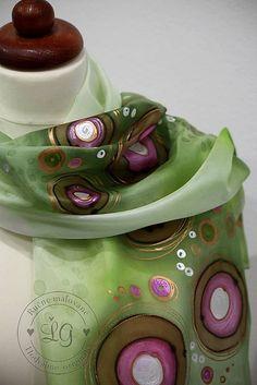 kruhy zeleno ružovée