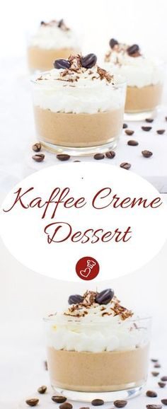 Dessert Rezepte, Kaffee Rezepte: Rezept für ein leckeres Kaffee Creme Dessert von herzelieb. Einfach und schnell zuzubereiten. Für Coffee Junkies genau das Richtige und einmal was Anderes. #kaffee #dessert #nachtisch #rezept #recipe #coffee #veggie