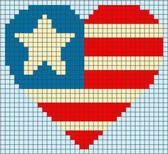 Bead Pattern Library, loom patterns  for the American love.