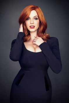 Christina Hendricks.  Just got some very unflattering photos of myself from a recent party... My boobs made the rest of me look heavy.  Time to post a Christina Hendricks photo to remind myself of what my same size boobs and nearly my same size hips look like on someone else... Ah, that's a little better.  ~Heather