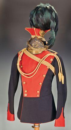 5th Royal Irish Lancer officer's tunic and czapka ca.1902