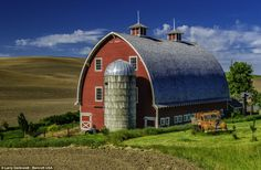 Photographer Larry Gerbrandt spent nine years capturing on camera the luminous wheat fields and farms of an area known as the Palouse in Eastern Washington. He then made the landscapes even more spectacular by digitally altering the colors.