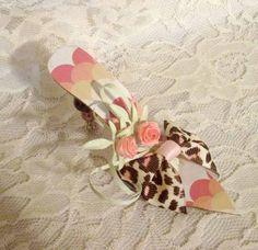 Marie Antoinette Inspired Paper Shoes, Handmade Ballroom Slippers, Paper Shoe Ornament, Paper Sculpted Shoes, Home Decor Art OOK ECS