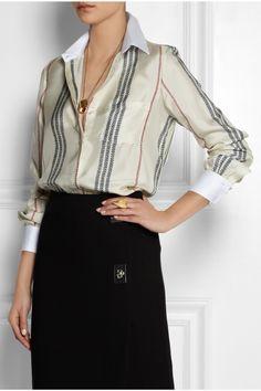 Altuzarra|Chika striped silk-twill shirt|NET-A-PORTER.COM