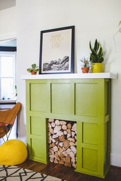 Try This: A Faux Fireplace