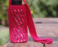 10 popular free crochet patterns for water bottle holders free pattern this knitted water bottle holder is perfectly practical for everyone knit and crochet daily dt1010fo