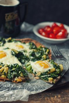 Breakfast pizza.