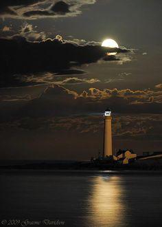 Full Moon at Scurdie Ness Lighthouse, Angus, Scotland  Photo ~ Graeme Davidson