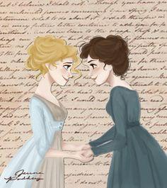 Jane And Lizzie by jennapaddey on DeviantArt   pride and prejudice #prideandprejudice Jane And Lizzie by jennapaddey on DeviantArt   pride and prejudice