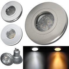 Power LED Badezimmer Einbaustrahler Aqua44 230Volt - 5Watt Deckenstrahler. Für Bad, Dusche + Aussenbereich. LED Warmlicht (Edelstahl gebürstet) von Lichtfaktor24, http://www.amazon.de/dp/B006ENMSE8/ref=cm_sw_r_pi_dp_tNfqrb1EKK8TR
