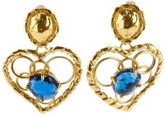 Yves Saint Laurent Vintage heart-shaped earring on shopstyle.com