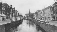De Haven in 1975. Overzicht met rechts de moderne gevel van het Kantongerecht.