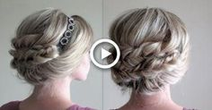 How to: Headband Updo and Fishtail Braids Cute Headband Hairstyles, Updo With Headband, Headbands For Short Hair, Half Updo Hairstyles, Fishtail Braid Hairstyles, Teenage Hairstyles, My Hairstyle, Wedding Hairstyles, Braided Headbands