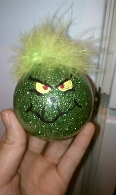 Grinch Ornament -Handmade