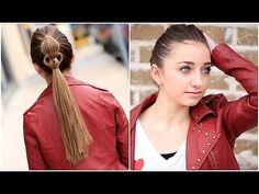 Cute Heart Ponytail | Valentine's Day Hairstyles #heart #hairstyles #hairstyle #cutegirlshairstyles #ponytail