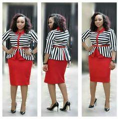 Nice Classic Woman Top and Skirt Corporate Dress - Lynn Fashion GH Office Wear Women Work Outfits, Casual Office Wear, Office Dresses For Women, Elegant Dresses For Women, Office Outfits, Casual Wear, Office Uniform, Latest African Fashion Dresses, Women's Fashion Dresses