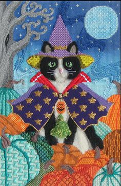 Brenda Stofft canvas stitched by Sandra Arthur - It's not your Grandmother's Needlepoint