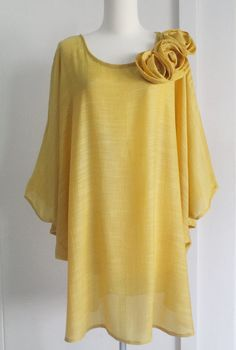 Casual/Formal Mustard Yellow Plus Size 3X Lightweight by 703Shop