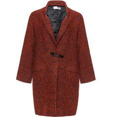 Boheme Black / Orange Plus Size Oversized patterned coat (335 CAD) ❤ liked on Polyvore featuring outerwear, coats, black, plus size, plus size coats, print coat, boho coat, oversized coat and knit coat