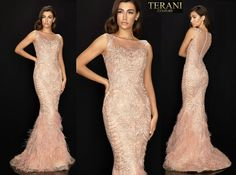 TERANI COUTURE 2011GL2415 authentic dress. FREE FEDEX. BEST PRICE   eBay Feather Skirt, Terani Couture, Pageant Gowns, Women Brands, Couture Fashion, Types Of Sleeves, Notes, Formal Dresses, Free
