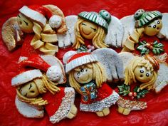 Masa Solna, Aniołki świąteczne