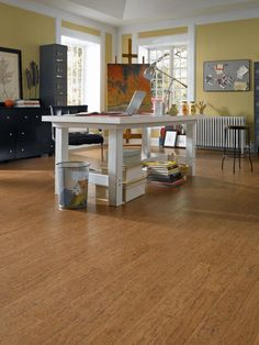 """""""I recently installed a cork product.Selected primarily for its amazing acoustic-insulating qualities, cork flooring also is much more comfortable to walk on than traditional hardwood and most certainly tile.Today's options span the color palette."""