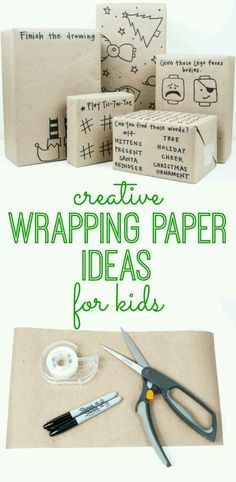 Nice. Wrapping paper ideas
