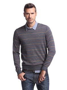 Cullen Men's Feed Stripe Crew Sweater