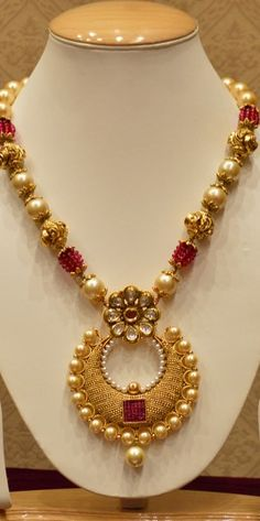 Golden Pearls Necklace Set With Drops And Studs Indian Wedding Jewelry, Bridal Jewelry, Beaded Jewelry, Gold Jewelry, India Jewelry, Temple Jewellery, Fashion Jewellery Online Shopping, Fashion Jewelry, Pearl Necklace Set