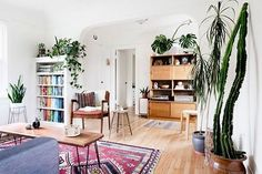 Plants In Living Room Ideas Apartment Therapy house plants easy home decor Source: website indoor plant decorating ideas apartment thera. Home Interior, Interior Design, Bohemian Interior, Interior Plants, Sweet Home, Living Spaces, Living Room, Easy Home Decor, Decor Diy