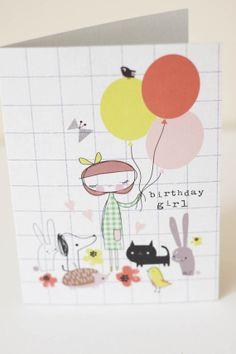 Birthday Girl- Greeting card- A6