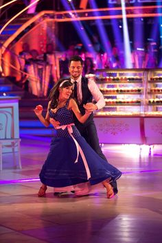 Strictly Come Dancing week 10, 2015. Peter Andre & Janette Manrara. American Smooth. Voted off. Credit: BBC / Guy Levy
