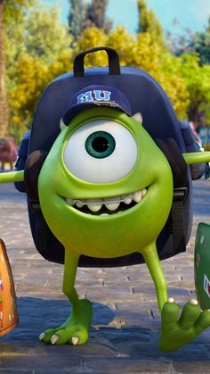 Monsters University wallpaper - My Wallpaper Cute Disney Wallpaper, Wallpaper Iphone Disney, Cute Cartoon Wallpapers, Disney Cartoons, Disney Movies, Disney Pixar, Pixar Movies, Monster University, Walt Disney Pictures