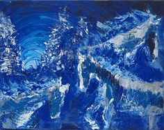 Winter Horses Painting Woodland Painting Snow  by TheAtticTheory, $110.00