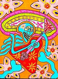 Electric+Blood+Rock+Guitar'++FAYTH+by+SandraSilberzweigArt+on+Etsy,+$18.99