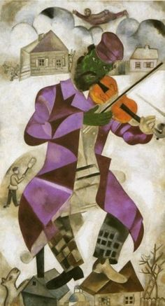 Marc Chagall. The Green Violinist. 1923/24. Oil on canvas. 198 x 108.6 cm. The Solomon R. Guggenheim Museum, New York, NY, USA.
