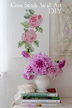 DIY Cross Stitch Wall Art | Inspired By Annetta Bosakova