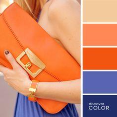 Colour Palette - Blues And Oranges                                                                                                                                                                                 Mais