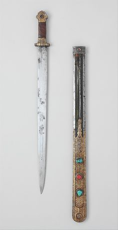 Short Sword and Scabbard, 18th–19th century. Tibetan. The Metropolitan Museum of Art, New York. Bequest of George C. Stone, 1935 (36.25.1466a, b) #sword