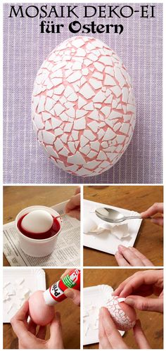 Einfach nur Färben ist doch langweilig. Wie wäre es mal mit einem Mosaik Osterei. Diese tolle Deko-Idee für Ostern kannst du selbst machen. Wir zeigen, wie es geht.