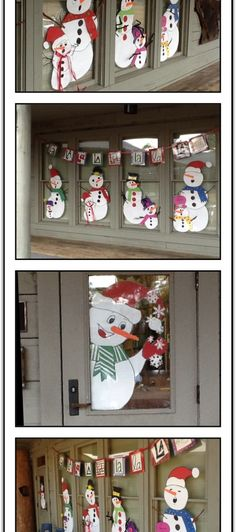 Snowman Music Door Decorations 2 - Decoration For Home Christmas Window Decorations, School Decorations, Christmas Photo Booth, Christmas Diy, Snowman Door, Christmas Crafts, Christmas Ornaments, Painted Doors, Window Treatments