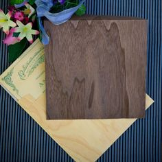 Square Wood Envelopes